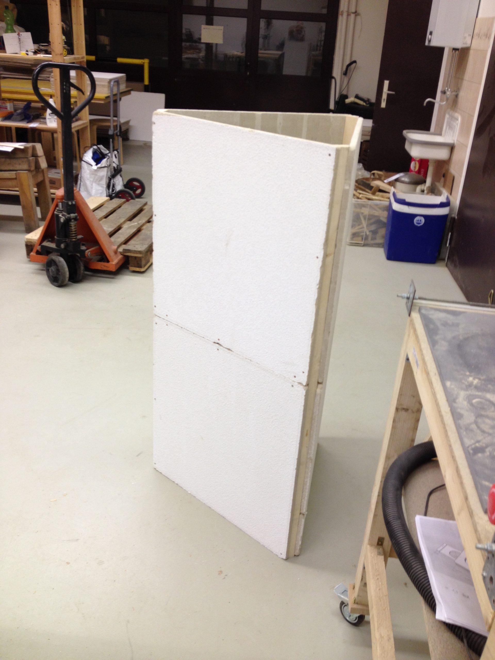 Hier bauen wir die fertig angepassten Teile zusammen.